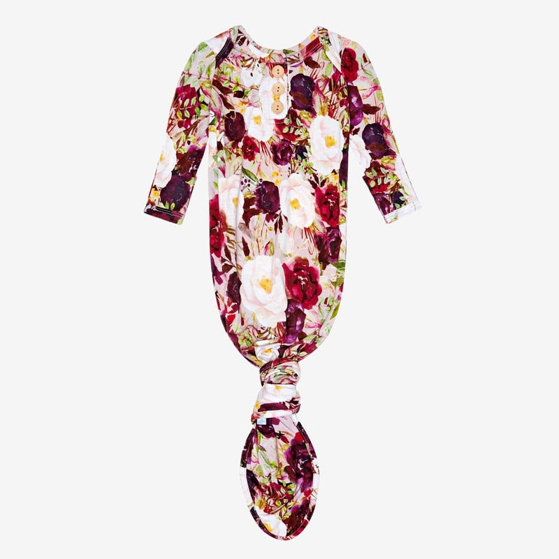 Gracie Floral Button Knotted Gown