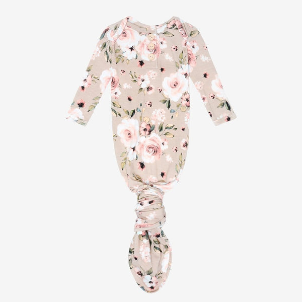 Sienna Floral Button Knotted Gown