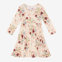 Gia Floral Long Sleeve Twirl Dress