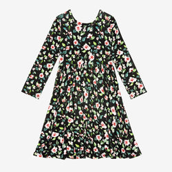 Lina Floral Long Sleeve Twirl Dress
