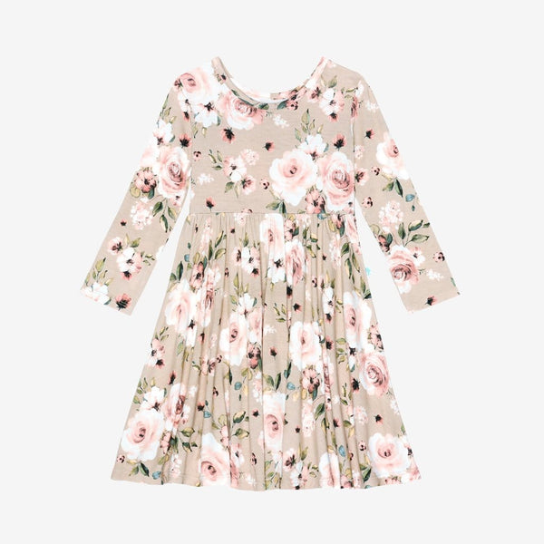 Sienna Floral Long Sleeve Twirl Dress