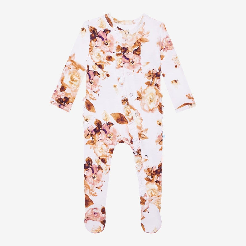 Reese Floral Footie Ruffled Snap One Piece - FINAL SALE