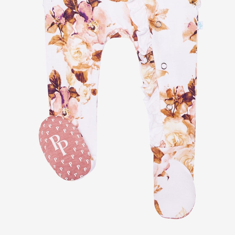 Reese Floral Footie Ruffled Snap One Piece
