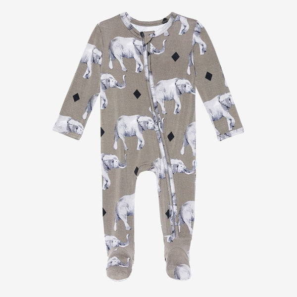 Rocco Elephant Footie Zippered One Piece