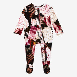 Zoey Floral Footie Ruffled Zippered One Piece