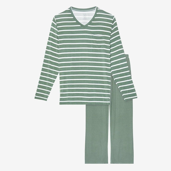 Dark Sage Stripe Men's Loungewear