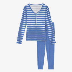 Denim Blue Stripe Women's Loungewear - FINAL SALE