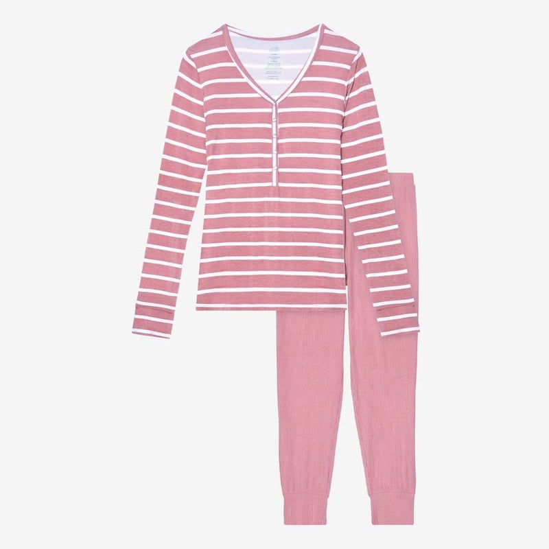 Blush Rose Stripe Women's Loungewear