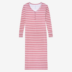 Blush Rose Stripe Long Sleeve Maxi Dress - FINAL SALE