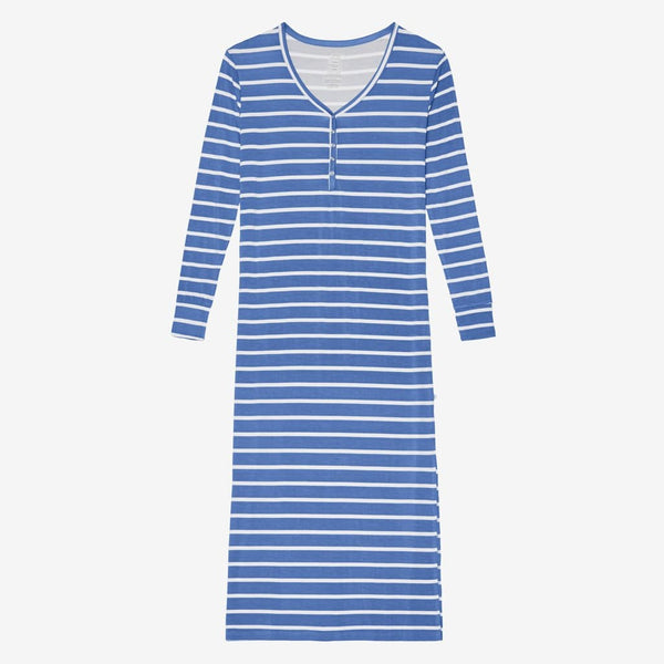Denim Blue Stripe Long Sleeve Maxi Dress - FINAL SALE
