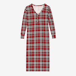 Noah Plaid Long Sleeve Maxi Dress