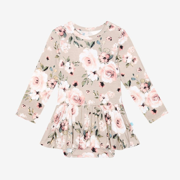Sienna Floral Long Sleeve Twirl Skirt Bodysuit