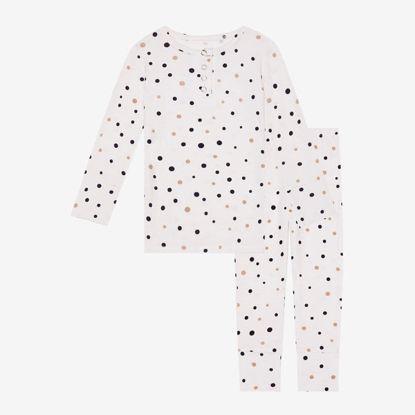 Jamie Polka Dot Henley Pajamas - FINAL SALE