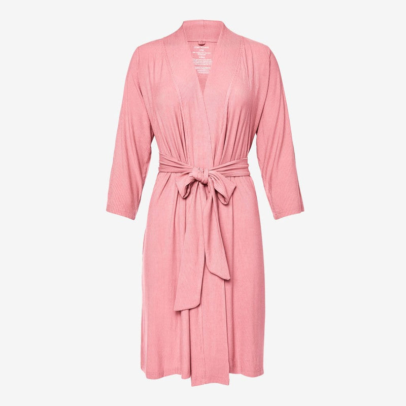 Blush Rose Ribbed Robe