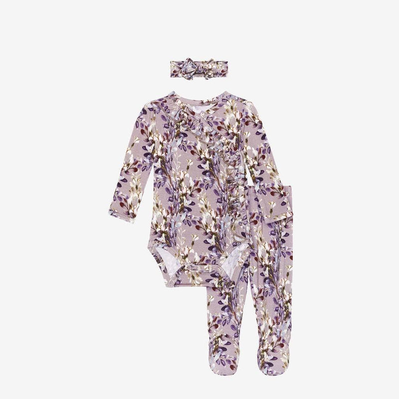 Trinity Floral Ruffled Kimono Set - FINAL SALE