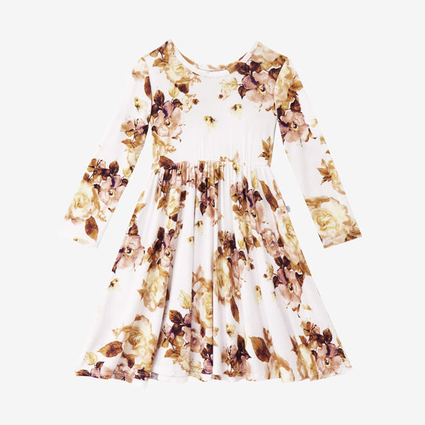 Reese Floral Long Sleeve Twirl Dress