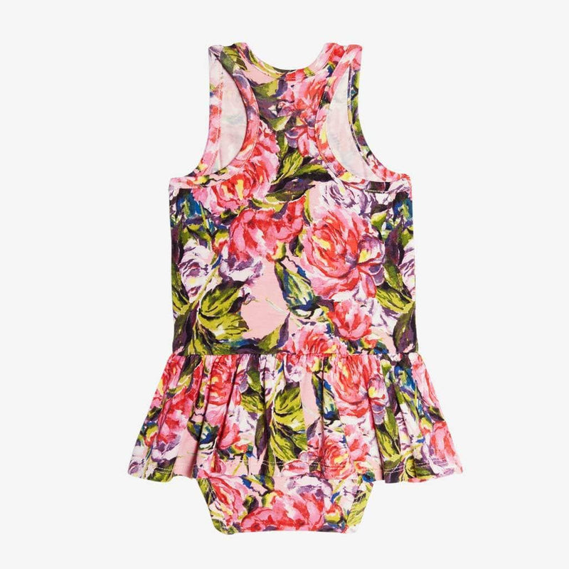 Lillian Floral Racerback Twirl Skirt Bodysuit - FINAL SALE