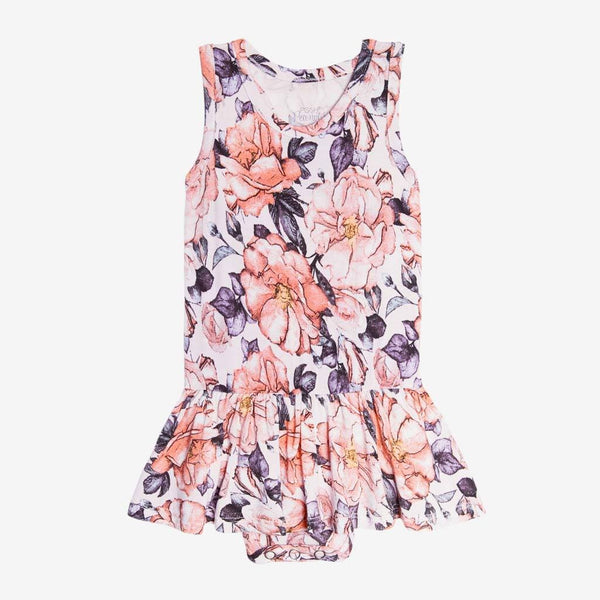 Vivi Floral Racerback Twirl Skirt Bodysuit - FINAL SALE