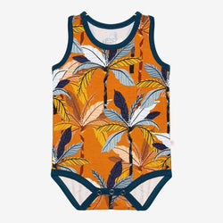 Summer Tropics Racerback Tank Bodysuit - FINAL SALE