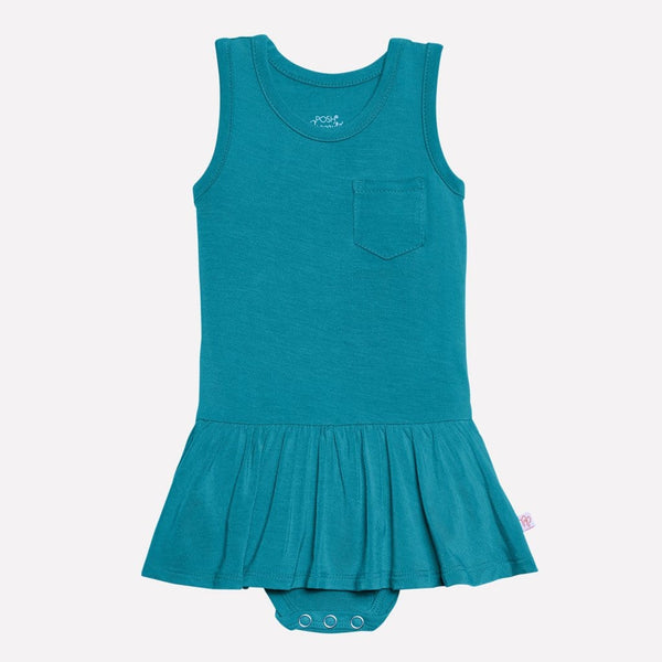 Azure Racerback Twirl Skirt Bodysuit - FINAL SALE
