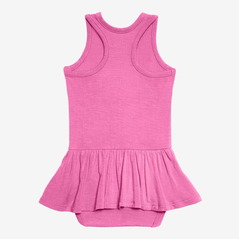 Bubblegum Racerback Twirl Skirt Bodysuit - FINAL SALE