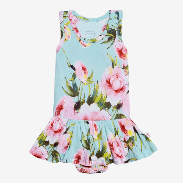 Carolina Floral Racerback Twirl Skirt Bodysuit - FINAL SALE