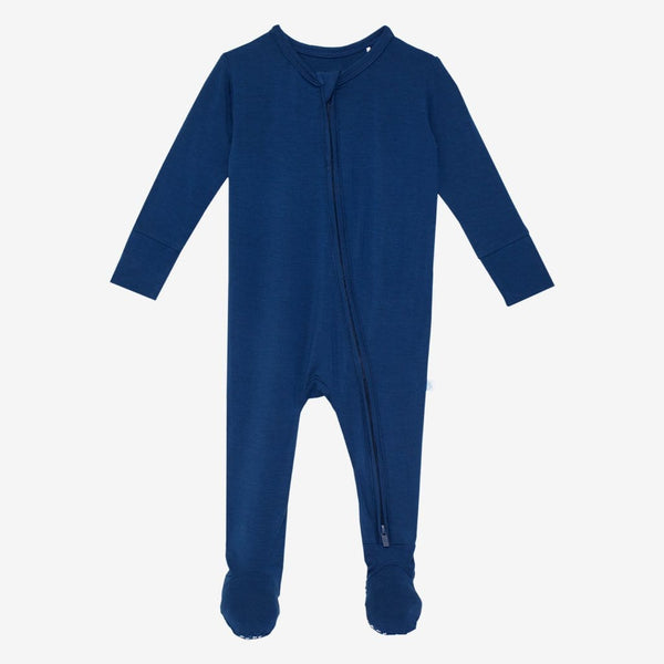 Sailor Blue Footie Zippered One Piece