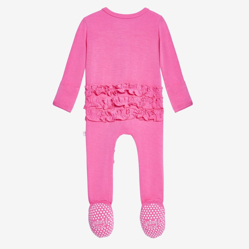 Bubblegum Footie Ruffled Snap One Piece - FINAL SALE