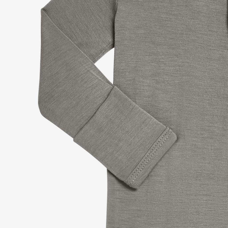 Stone Gray Footie Snap One Piece - FINAL SALE