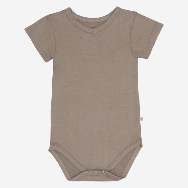 Taupe V-Neck Bodysuit - FINAL SALE