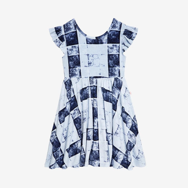 Denim Plaid Twirl Dress - FINAL SALE