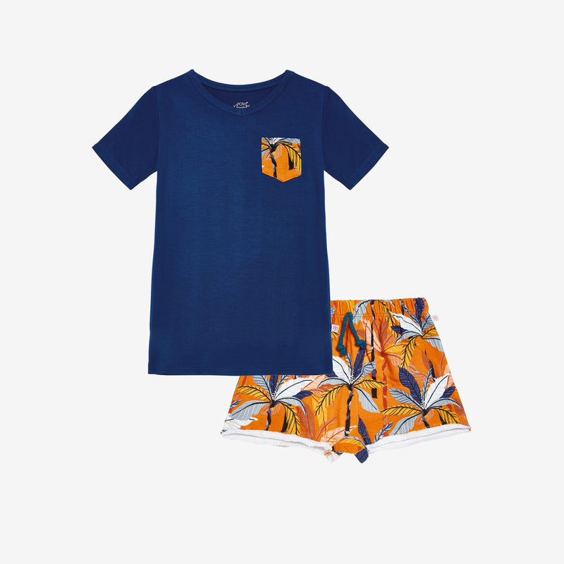 Summer Tropics Terry Shorts, Shirt Set