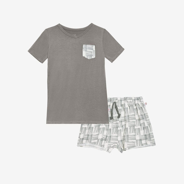 Rivers Gray Terry Sweat Shorts, Shirt Set - FINAL SALE