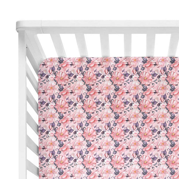 Vivi Floral Crib Sheet - FINAL SALE
