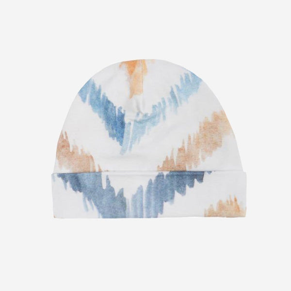 Neutral Watercolor Chevron Beanie - FINAL SALE
