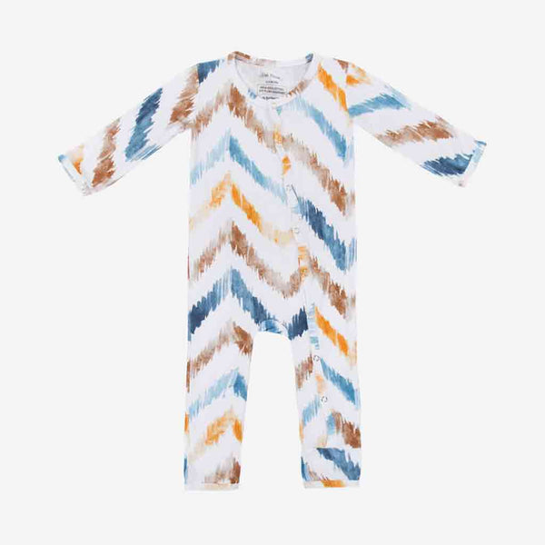 Neutral Watercolor Chevron One Piece - FINAL SALE