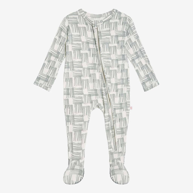 Rivers Gray Footie Zippered One Piece - FINAL SALE