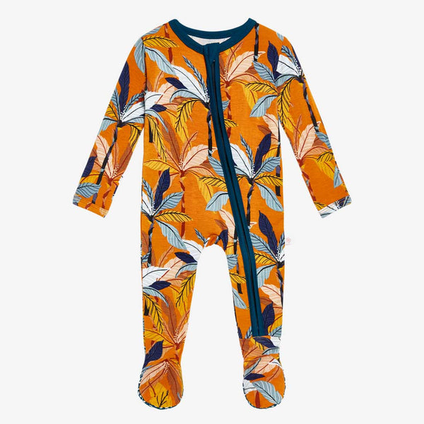 Summer Tropics Footie Zippered One Piece - FINAL SALE