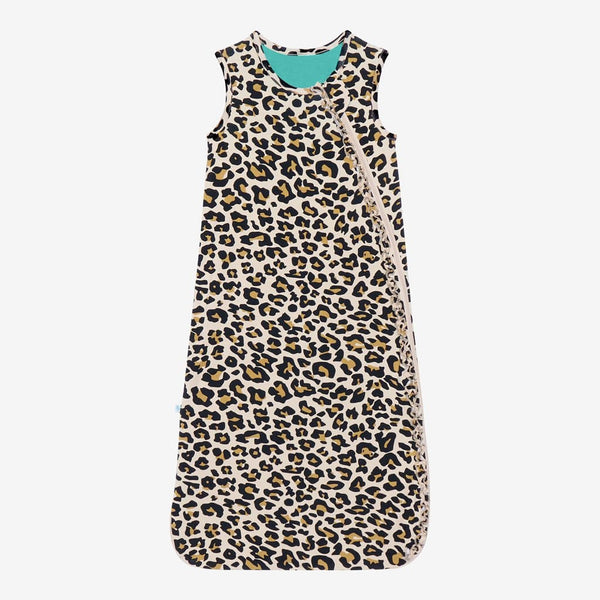 Lana Leopard Tan Sleeveless Ruffled Sleep Bag 1.0 Tog