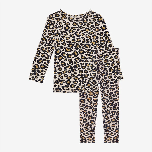 Lana Leopard Tan Long Sleeve Pajamas
