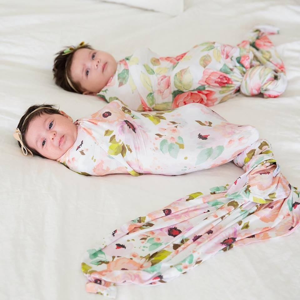Winter Peony Swaddle Set
