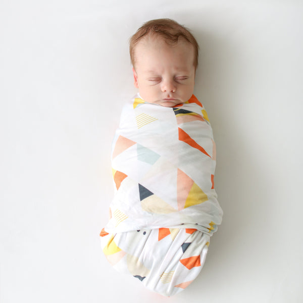 Posh-Peanut-Viscose-Bamboo-Stay-dry-fabric-reliably-chic-and-perfectly-practical-uniquely-designed-of-a-kind-retro triangle baby swaddle