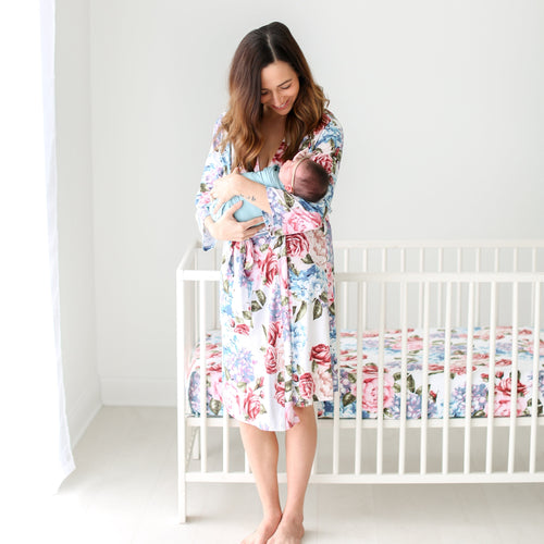 a2f25fa4de5 Mommy and baby matching hospital robe and blanket
