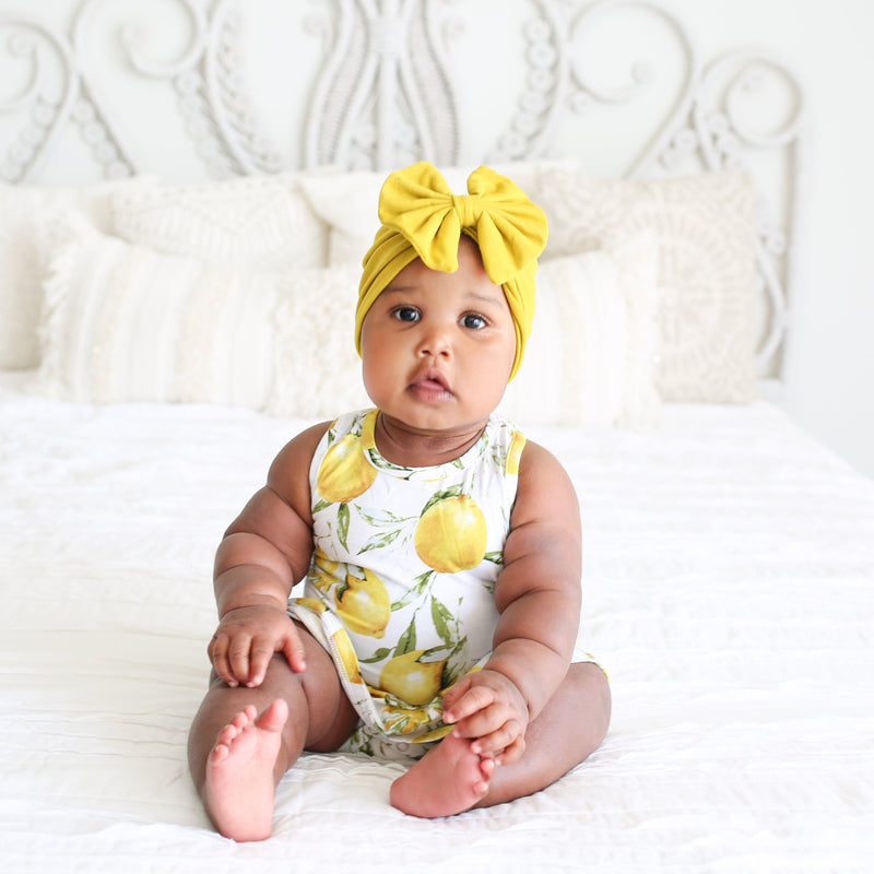 Lemon Racerback Twirl Skirt Bodysuit - FINAL SALE