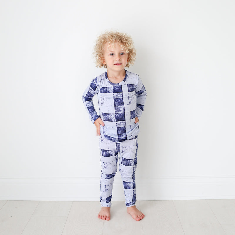 Denim Plaid Pajamas - FINAL SALE
