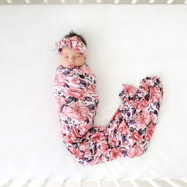 Vivi Floral Swaddle Headband Set - FINAL SALE