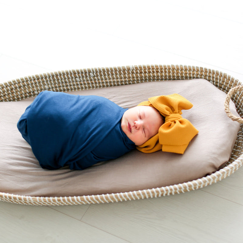 Sailor Blue Swaddle Beanie Set