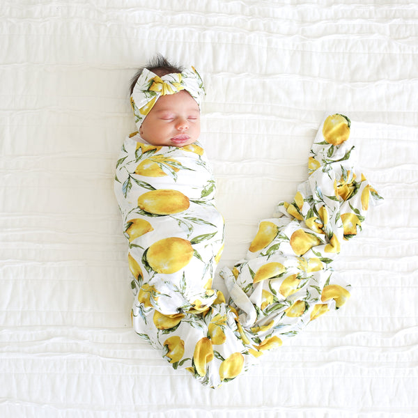 Lemon Swaddle Headband Set - FINAL SALE