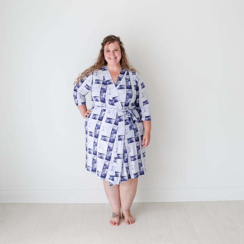 Denim Plaid Robe - FINAL SALE
