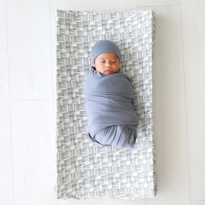 Rivers Gray Changing Pad Cover - FINAL SALE